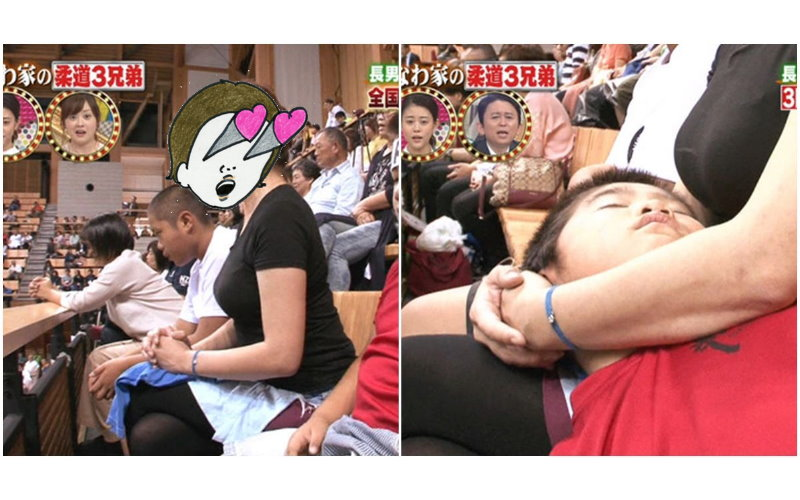 素人媽媽擁有神級巨乳...兒子躺腿上壓迫感好重?網友:滿滿母愛!羨慕他兒子